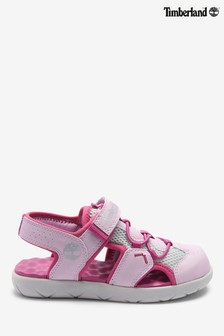 Timberland® Pink Perkins Row Fisherman Velcro Sandals