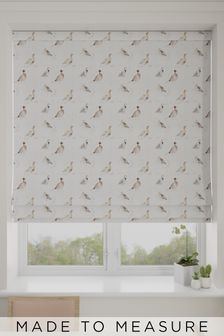 Wildlife Game Bird Cream Made To Measure Roman Blind