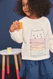 Cat Jumper With Tights (3mths-7yrs)
