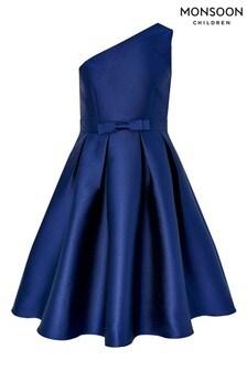 Monsoon Children Navy Connie One Shoulder Prom Dress