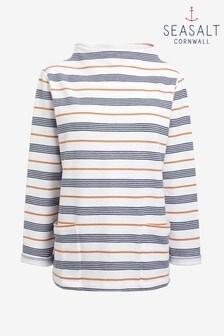 Seasalt Oceangoing Gwennol Ecru Magpie Sweatshirt