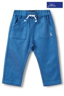 Joules Blue Ethan Jersey Woven Trouser