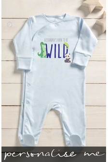 Personalised Born To Be Wild Sleepsuit