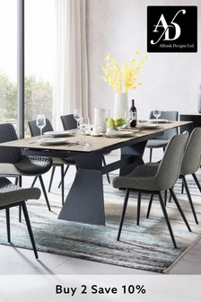 Utah Extending Dining Table with 8 Chairs by Alfrank