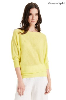 Phase Eight Yellow Becca Fluro Knit Top