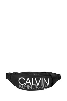 Calvin Klein Jeans Kids Black Logo Belt Bag