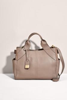 Кожаная деловая сумка-тоут