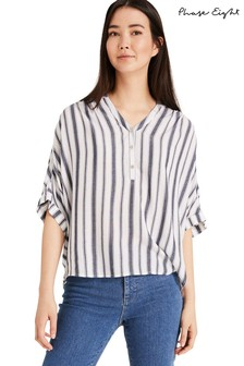 Phase Eight Blue Laila Stripe Blouse