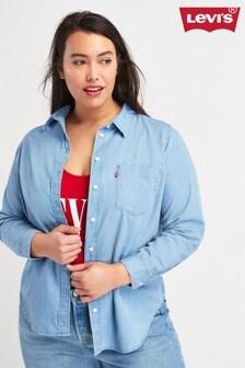 Levi's® Plus Light Mid Wash Ultimate Boyfriend Shirt