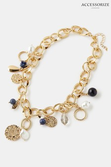 Accessorize Chunky Multi-Charm Necklace