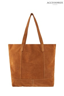 Accessorize Tan Opp Leather Tote