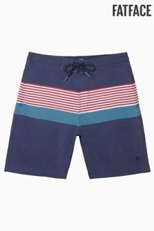 FatFace Blue Camber Multi Stripe Swimmers