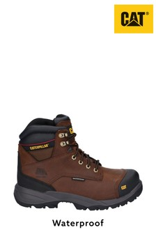 CAT Brown Spiro Lace-Up Waterproof Safety Boots