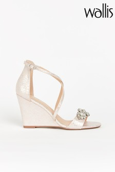 Wallis Sienna Pink Jewel Stripe Wedge Sandals
