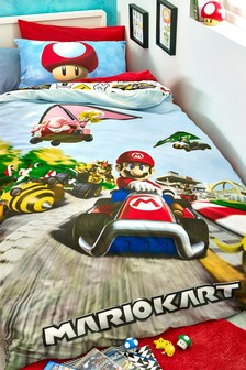 Mario Kart Duvet Cover and Pillowcase Set