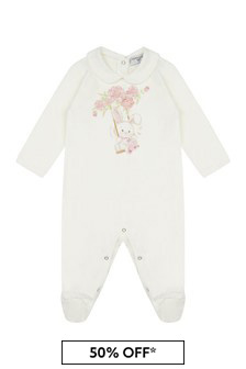 Monnalisa Baby Girls Cream Cotton Shortie
