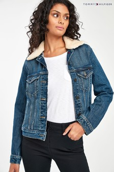 Tommy Hilfiger Blue Koda Sherpa Denim Jacket