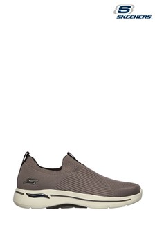 Skechers® Brown Go Walk Arch Fit Iconic Trainers