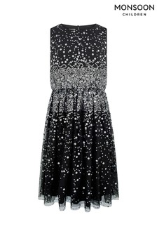 Monsoon Black Lara Sequin Prom Dress