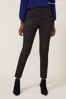 Phase Eight Black Joanne Jacquard Trousers