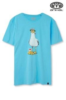 Animal Pale Blue Chippa Grahic T-Shirt