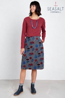 Seasalt Petite Brume Dye Plants Stormcloud Skirt