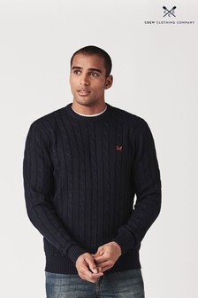 Crew Clothing Company Blue Regatta Cable Crew Jumper