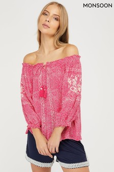 Monsoon Anastasija Ecovero Off The Shoulder Top