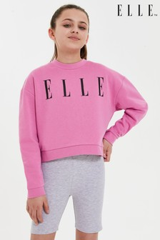 ELLE Oversize Crew Neck Sweat Top