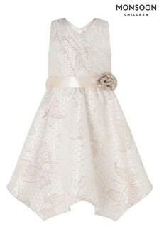 Monsoon Gold Honey Jacquard Wrap Dress