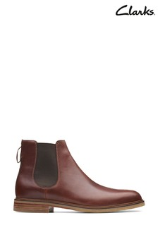 Clarks Mahogany Leather Clarkdale Gobi Boots
