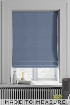 Soho Danube Blue Made To Measure Roman Blind