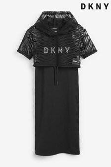 DKNY Black Logo Net Dress