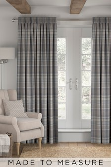 Ludlow Woven Check Made To Measure Curtains