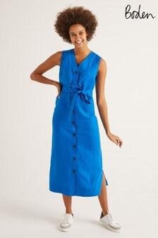 Boden Blue Catriona Linen Dress
