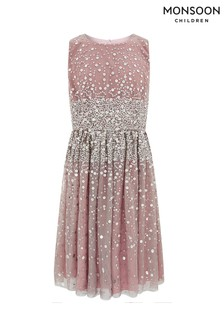 Monsoon Pink Lara Sequin Prom Dress