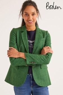 Boden Green Smyth Tweed Blazer