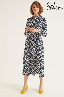 Boden Blue Isodora Midi Shirt Dress