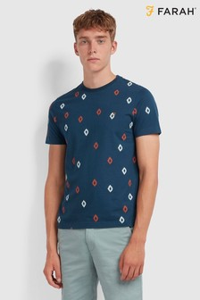Farah Chaffee All Over Diamond Print T-Shirt