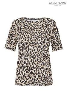Great Plains Leopard Cara Round Neck T-Shirt