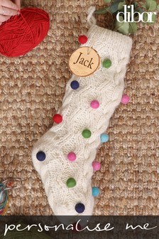 Personalised Pom Pom Stocking by Dibor