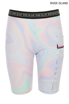 River Island Pastel Marble Cycling Short