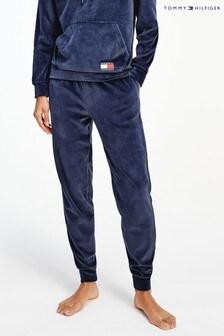 Tommy Hilfiger Blue Velour Loungewear Joggers
