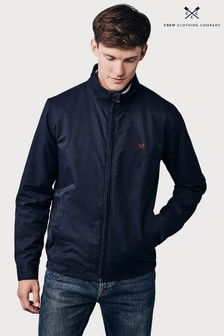Crew Clothing Company Blue Harrington Jacket