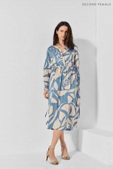 Second Female Blue Mala Midi Dress
