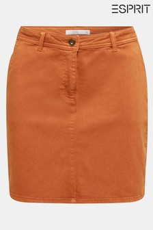 Esprit Mini Woven Skirt With Piping Detail
