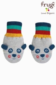 Frugi Organic Panda Character Knitted Mittens