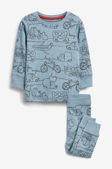 Transport Print Snuggle Fit Pyjamas (9mths-8yrs)
