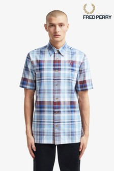 Fred Perry Tartan Short Sleeve Shirt