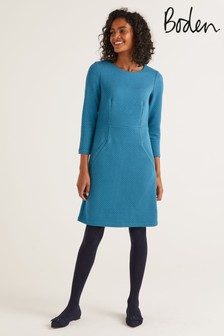 Boden Blue Agnes Jacquard Dress